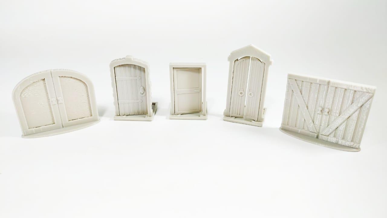 Kit de peças 3D Portas 5 unidades Acessório para Jogos de Tabuleiro  - Place Games