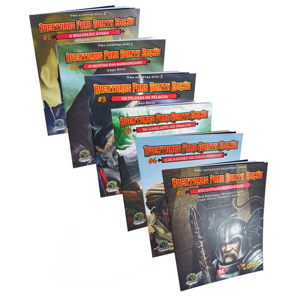 Kit Dungeons & Dragons Aventuras para 5a Edição 6 Livros Galapagos  - Place Games