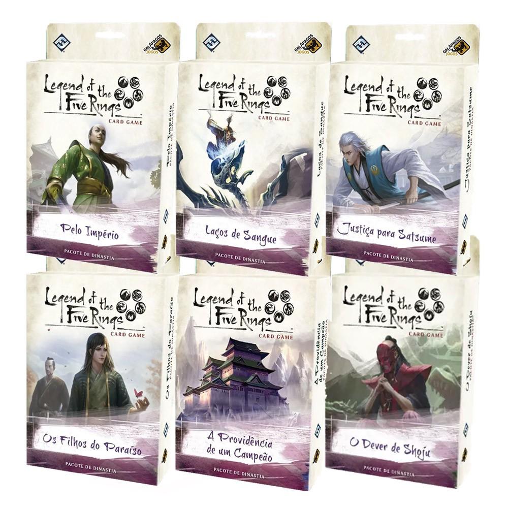 Kit Legend of the Five Rings Ciclo da Herança 6 expansões de Jogo de Cartas Galapagos  - Place Games