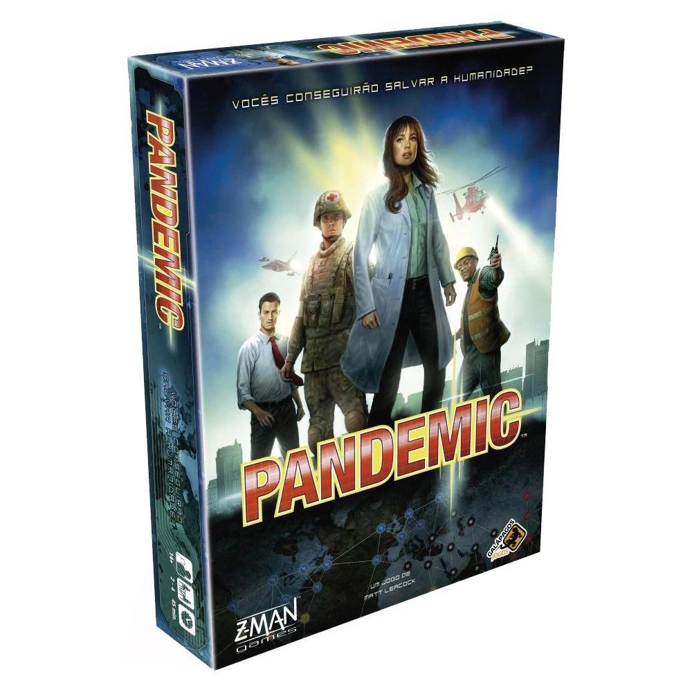 Kit Pandemic + Zona Crítica Jogos de Tabuleiro Galapagos  - Place Games