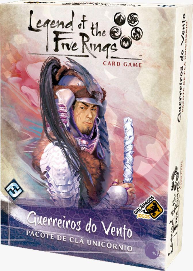 Legend of the Five Rings Guerreiros do Vento Pacote de Clã Unicornio Jogo de Cartas Galapagos L5R017  - Place Games