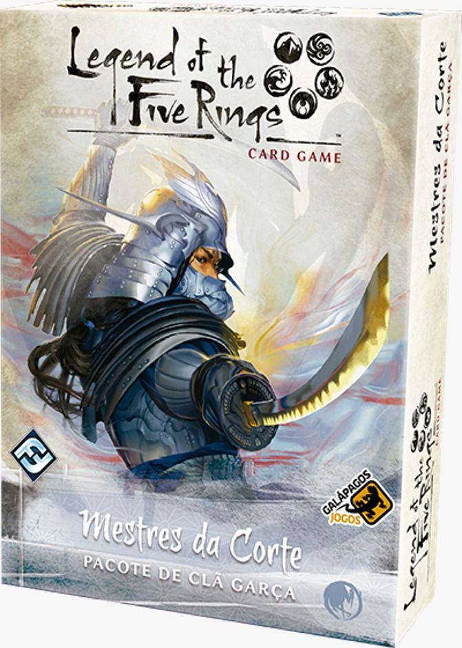 Legend of the Five Rings Mestres da Corte Pacote de Clã Garça Jogo de Cartas Galapagos L5R018  - Place Games