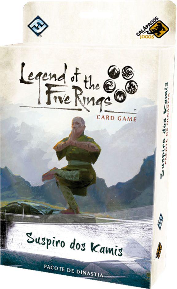 Legend of the Five Rings Suspiro de Kamis Pacote de Dinastia Ciclo Elemental Jogo de Cartas Galapagos L5R009  - Place Games