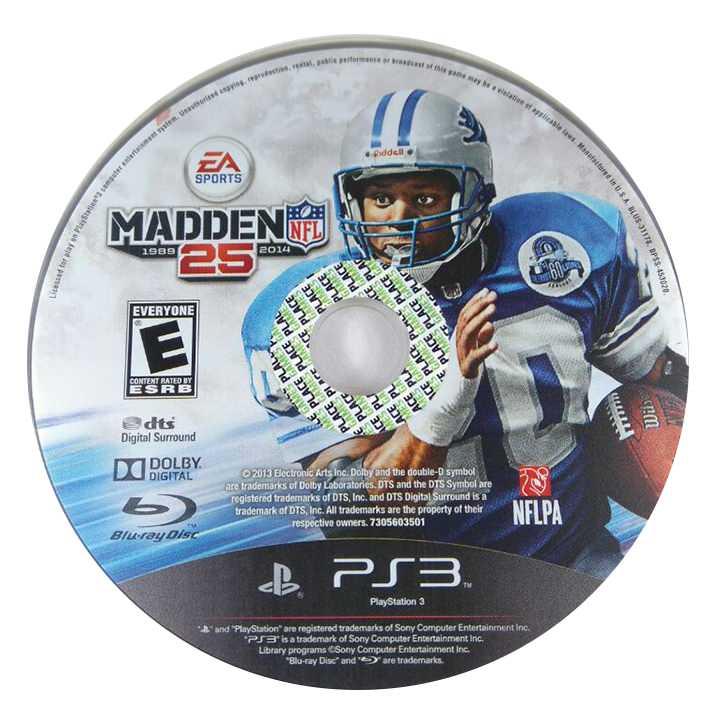 Madden NFL 25 só a mídia Playstation 3 Original Usado  - Place Games