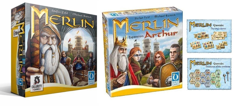 Merlin + Expansão Arthur + Queenie 1 e 2 Jogo de Tabuleiro Calamity Games  - Place Games