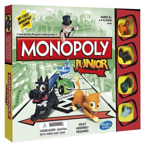 Monopoly Junior Jogo de Tabuleiro Hasbro A6984  - Place Games
