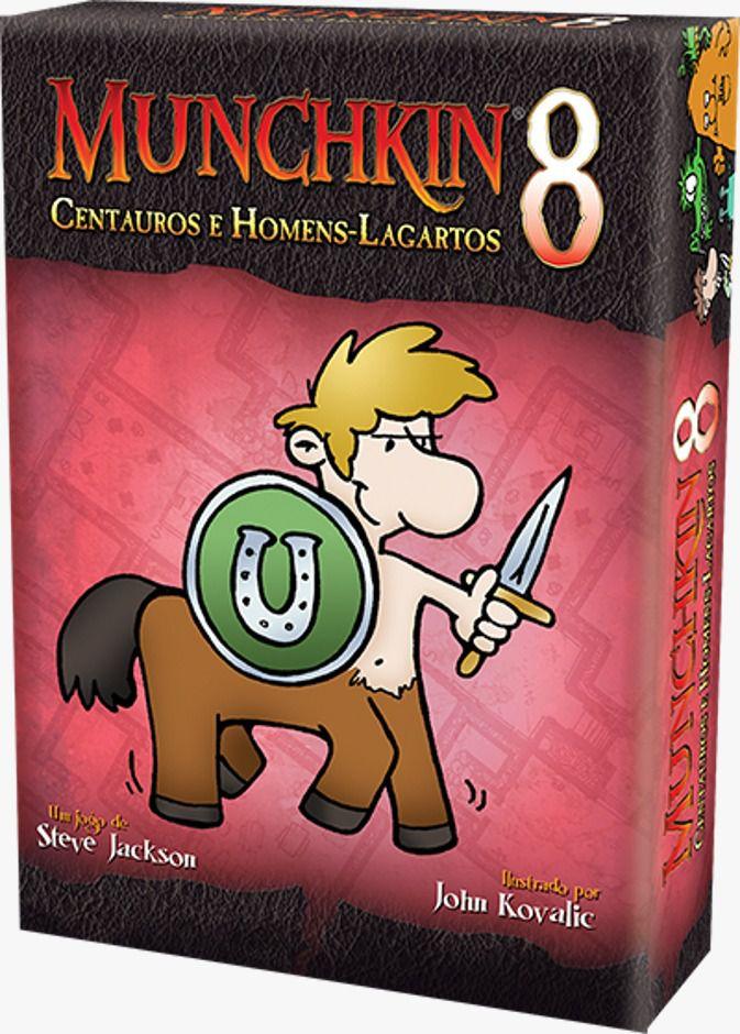 Munchkin 8 Centauros e Homens Lagartos Expansão de Jogo de Cartas Galapagos MUN008  - Place Games