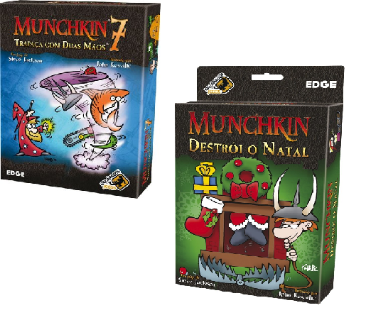 Munchkin Destrói O Natal + Munchkin 7 Expansões Galapagos  - Place Games