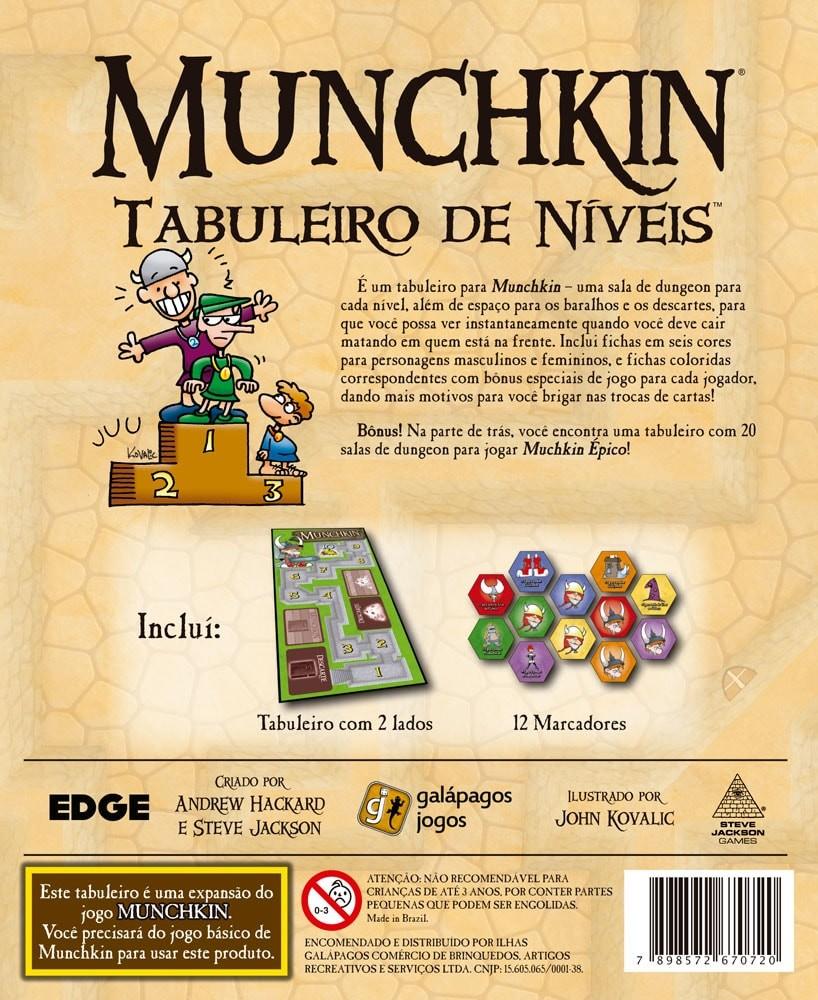 Munchkin Tabuleiro de Níveis Expansão Galapagos MUN100  - Place Games