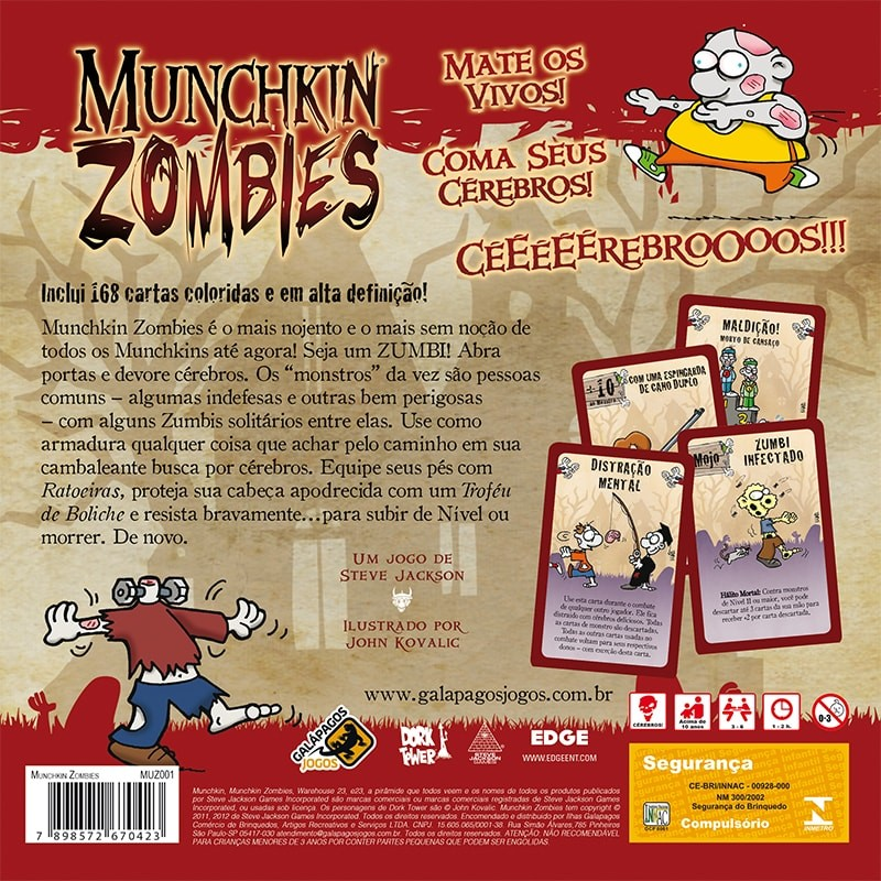 Munchkin Zombies Galapagos MUZ001  - Place Games