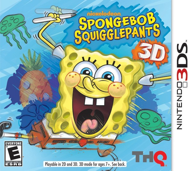 Nicklodeon Sponge Bob - Squigglepants 3DS Original Usado  - Place Games