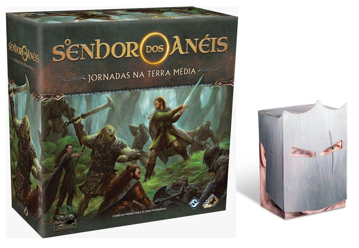 O Senhor dos Anéis Jornadas na Terra Média Jogo de Tabuleiro Galapagos JME001 + Porta Cards Knight Brinde  - Place Games