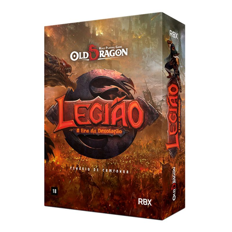 Old Dragon Legião Caixa Básica Kit de RPG Red Box RBX26001  - Place Games