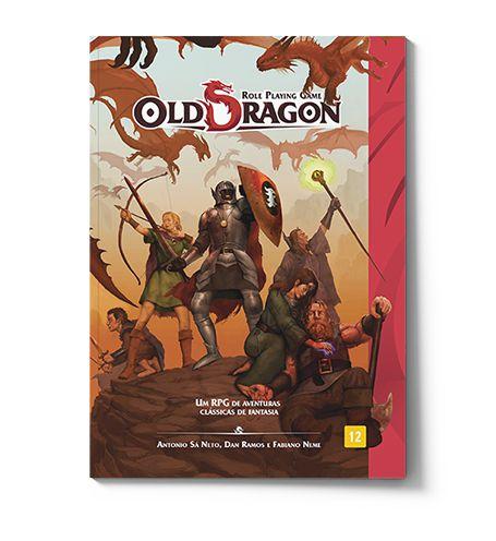 Old Dragon Livro de RPG Básico Aprimorado Red Box RBX01015  - Place Games