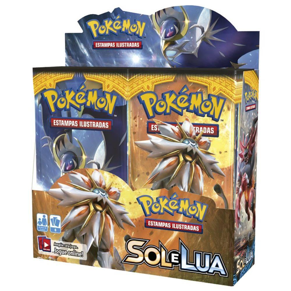 Pokemon Booster Sol e Lua Caixa Master com 36un. Copag  - Place Games