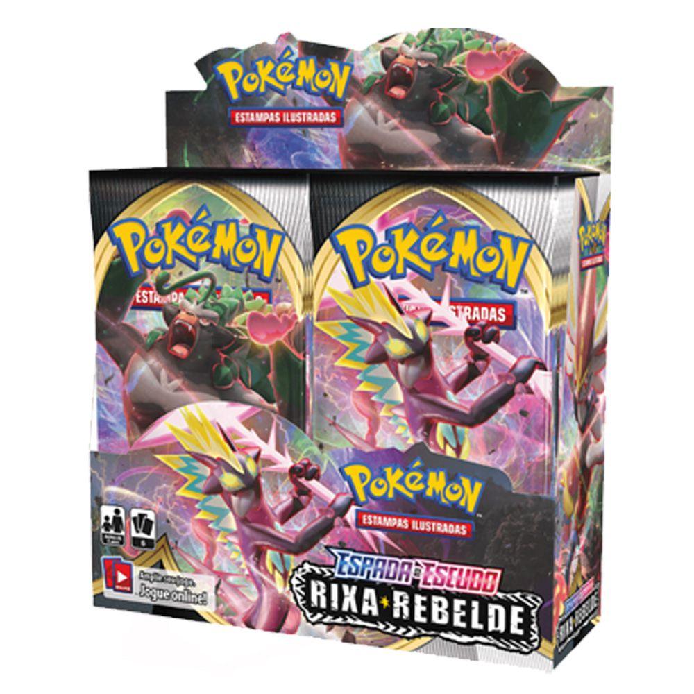 Pokemon Espada e Escudo 2 Rixa Rebelde Booster Display Jogo de Cartas Copag 90775  - Place Games