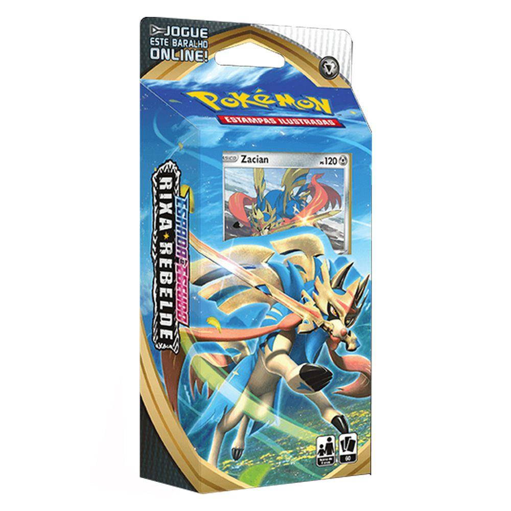 Pokemon Espada e Escudo 2 Rixa Rebelde Starter Deck Zacian Jogo de Cartas Copag 90780  - Place Games