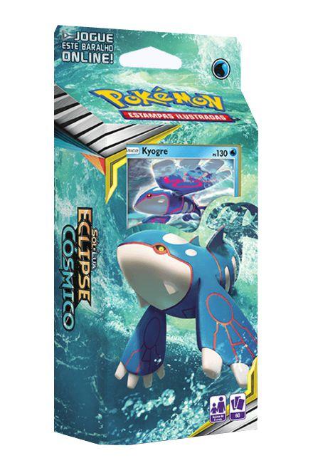 Pokemon Sol e Lua 12 Eclipse Cósmico Starter Deck Profundezas Ocultas Kyogre Jogo de Cartas Copag 99577  - Place Games