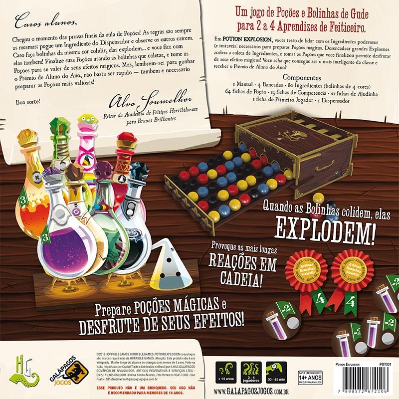 Potion Explosion Jogo de Tabuleiro Galapagos POT001  - Place Games