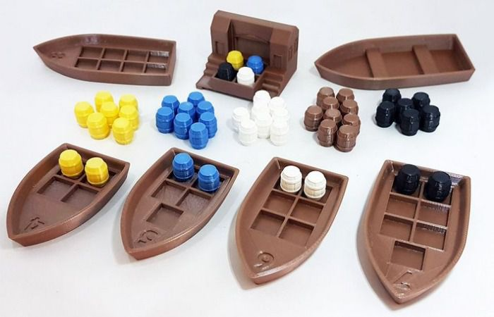Puerto Rico Kit de peças 3D realistas Acessório Jogo de Tabuleiro Grow 3132  - Place Games