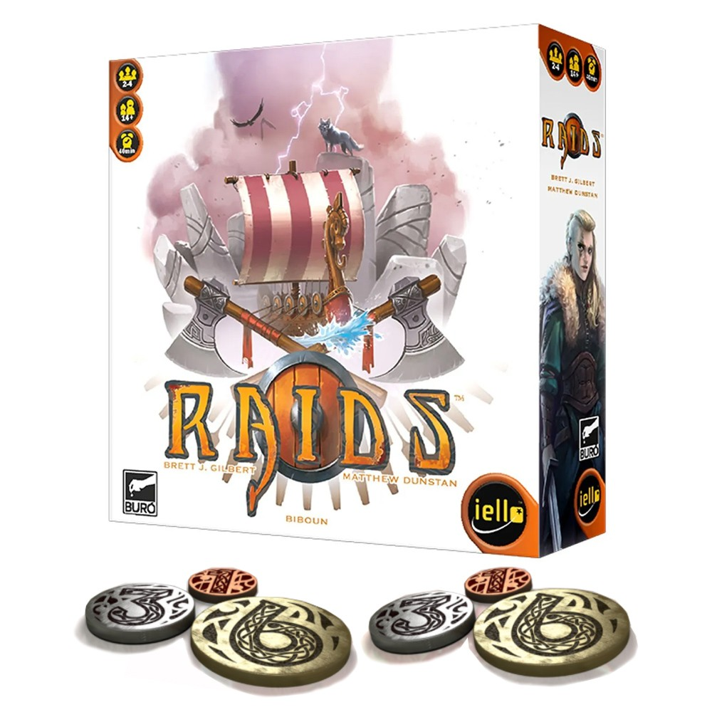 Raids com moedas de metal Jogo de Tabuleiro Buro  - Place Games