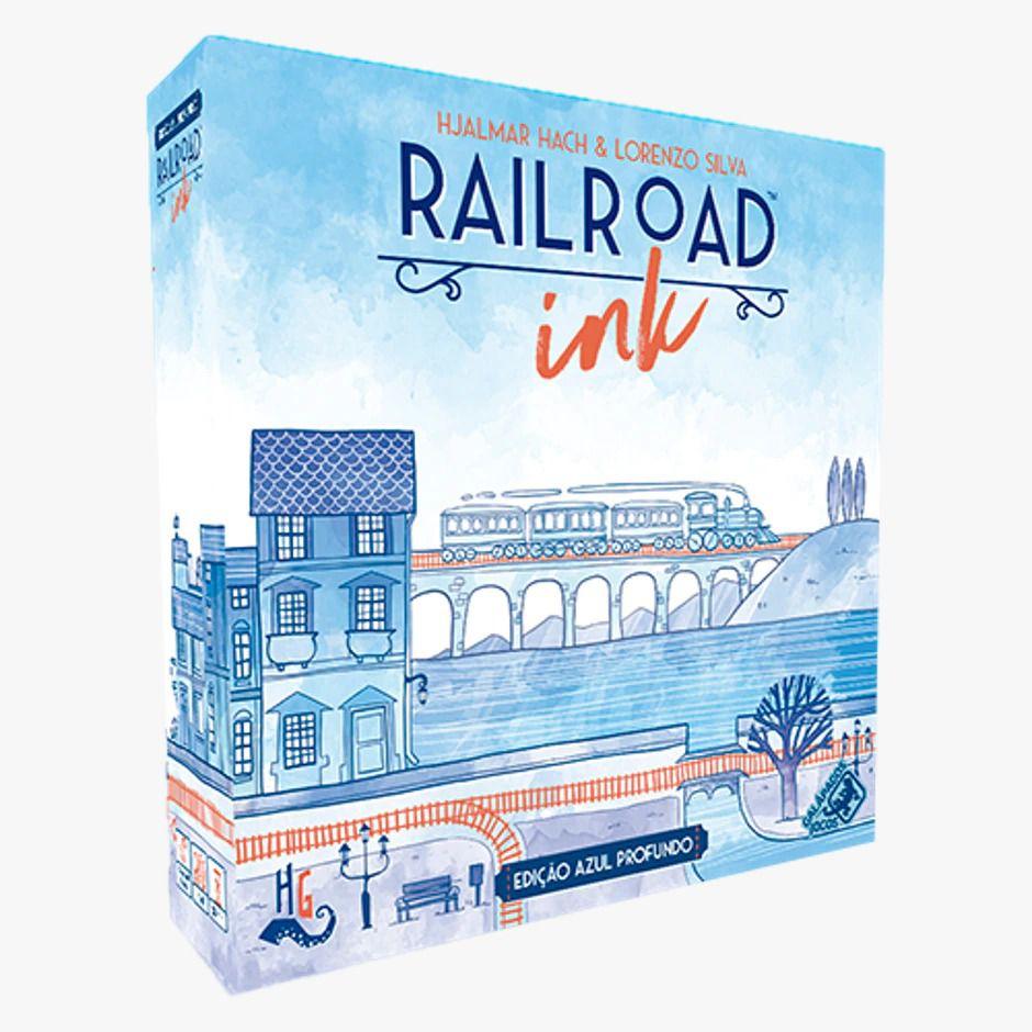 Rail Road Ink Azul Profundo Jogo de Dados Galapagos RRI001  - Place Games