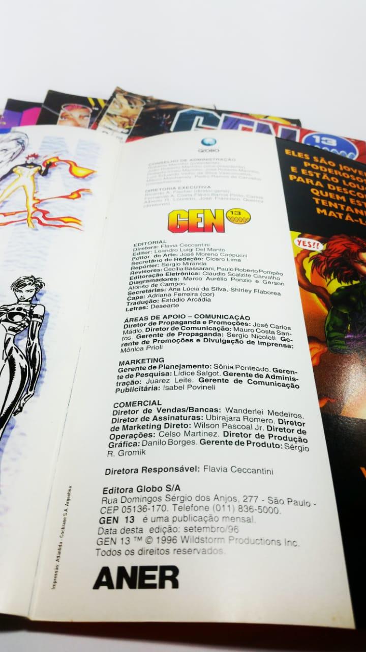 Revista GEN 13 #1 ao #6 Editora Image Originais Usados  - Place Games