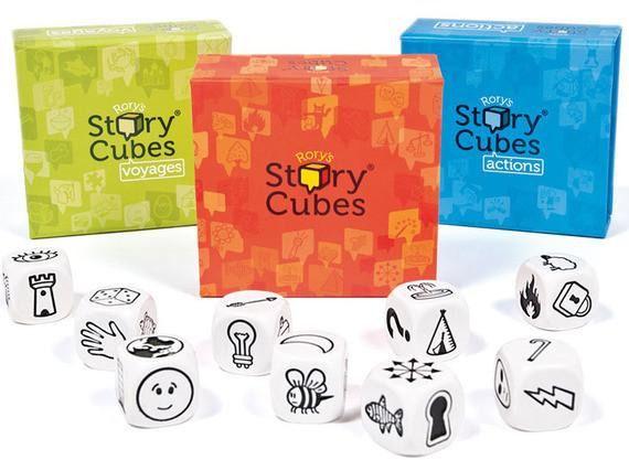 Rory Story Cubes + Ação + Viagens Jogo de Dados Galapagos  - Place Games