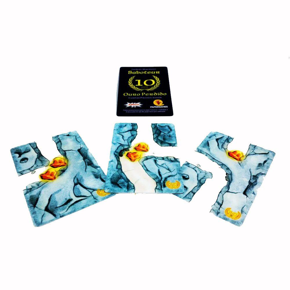 Saboteur + Promo Ouro Perdido Jogo de Cartas PaperGames J007  - Place Games