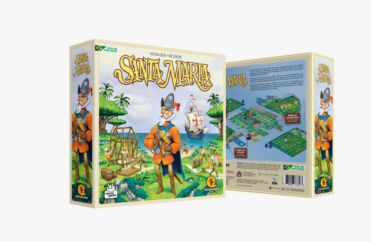 Santa Maria Jogo de Tabuleiro PaperGames J019  - Place Games