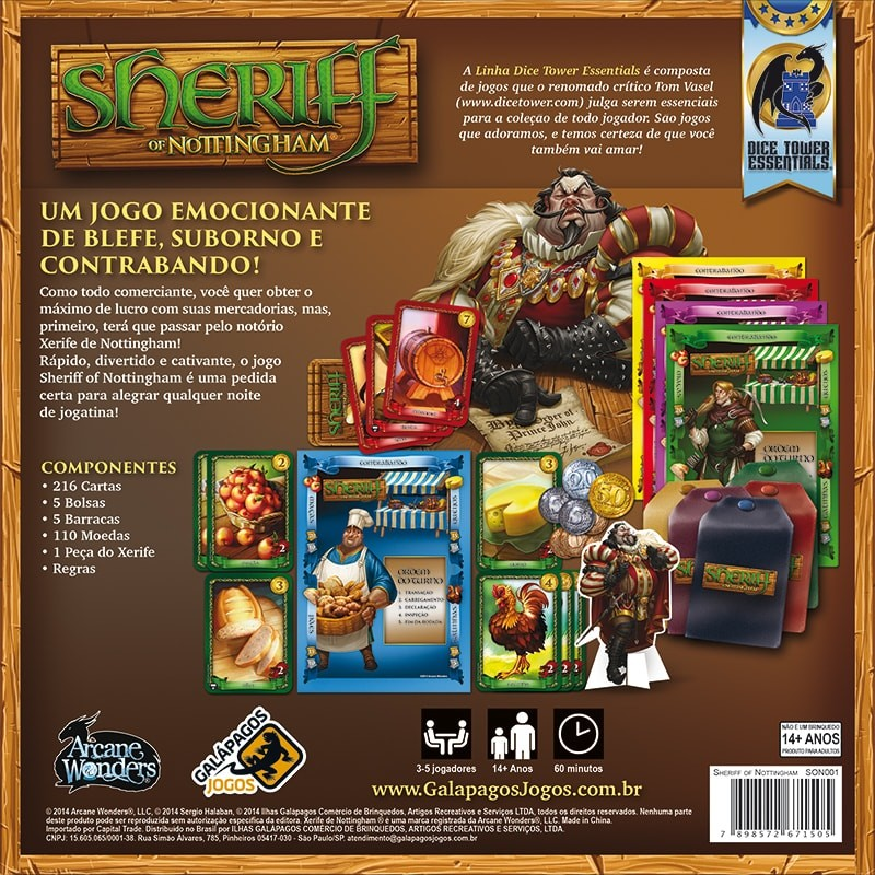 Sheriff of Nottingham Galapagos SON001  - Place Games