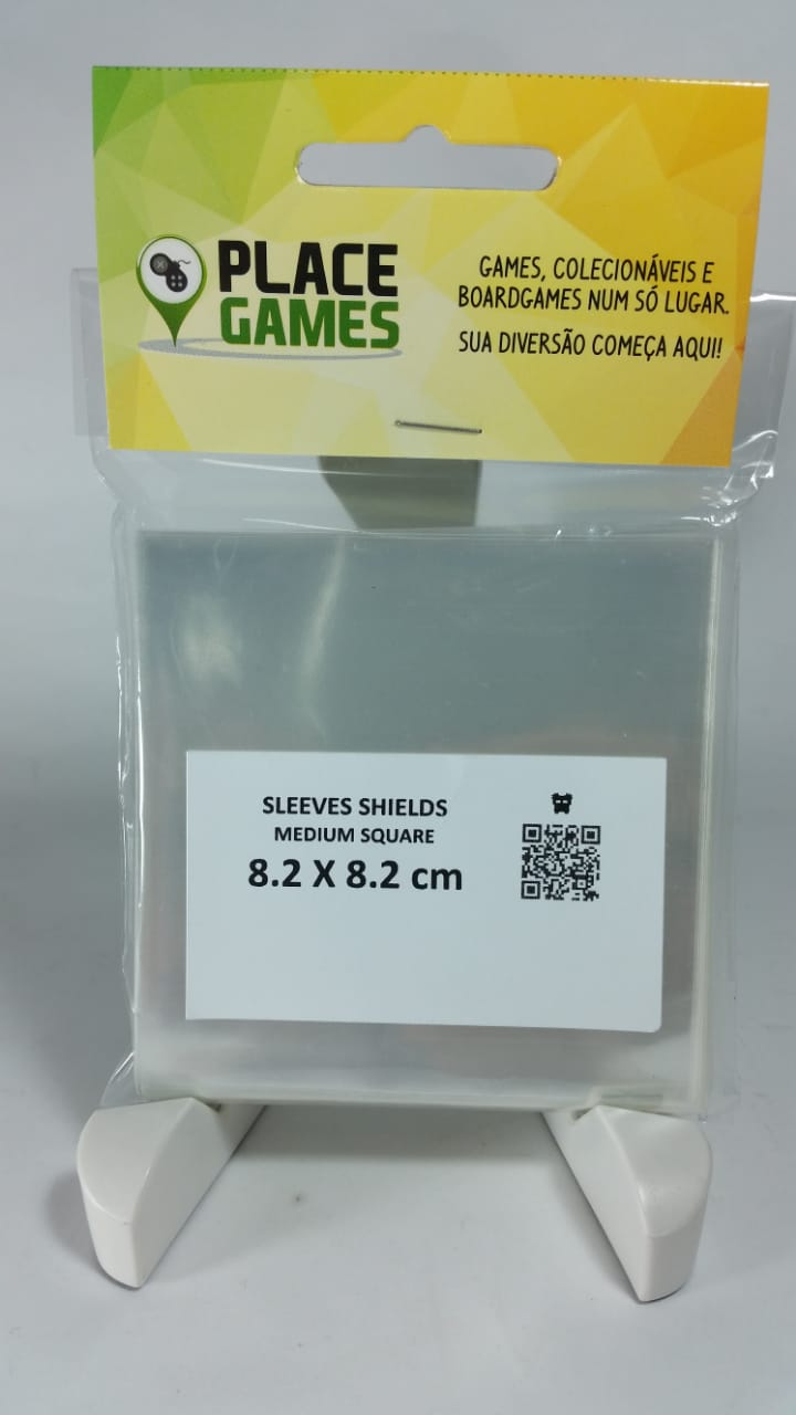 Shields Sleeves Medium Square 82 X 82mm Capas protetoras 100 unidades  - Place Games