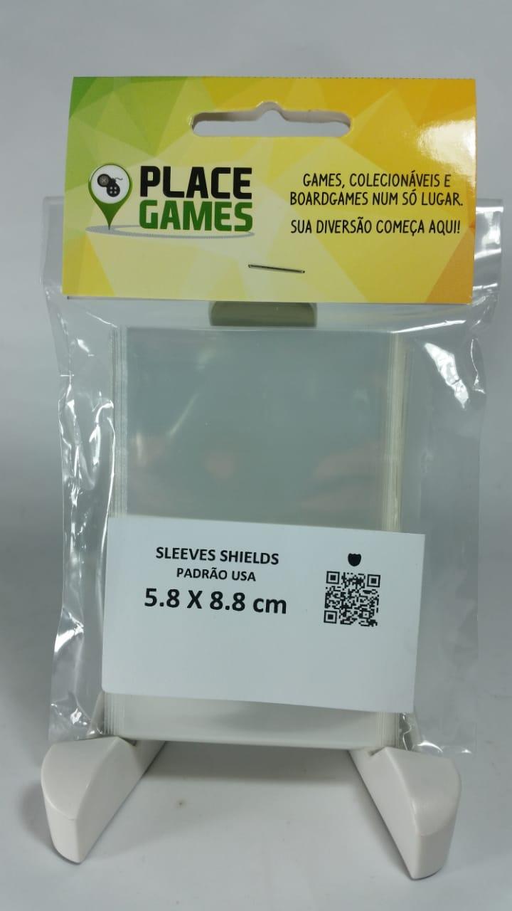 Shields Sleeves Padrão USA 58 X 88mm Capas protetoras 100 unidades  - Place Games