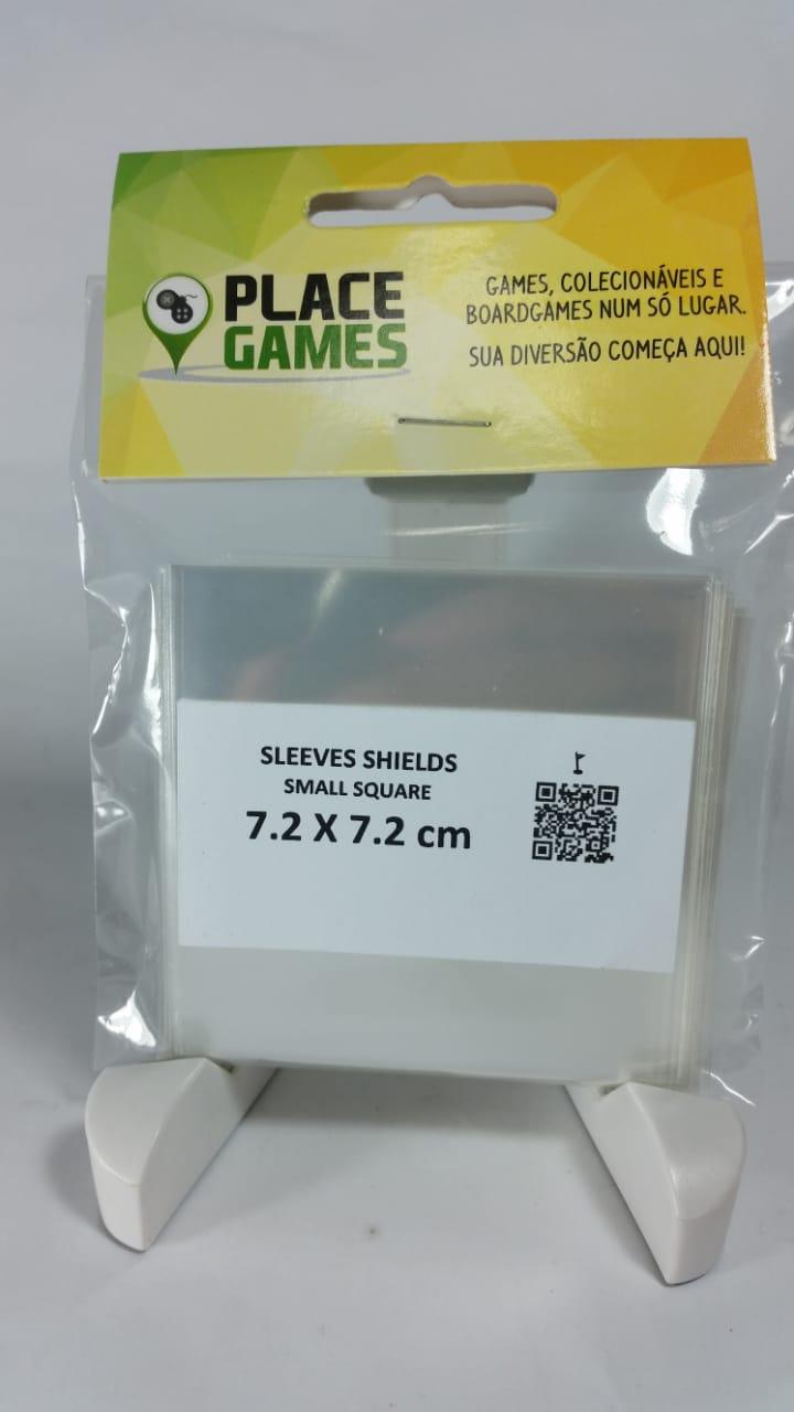 Shields Sleeves Small Square 72 X 72mm Capas protetoras 100 unidades  - Place Games
