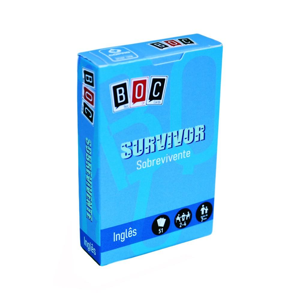 Survivor Sobrevivente Jogo de Cartas em inglês BOC Box of Cards  - Place Games