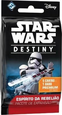 Star Wars Destiny Booster 5 cartas + dado Expansão Espirito da Rebelião Galapagos SWD004  - Place Games