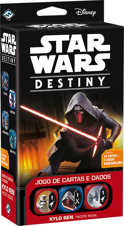Star Wars Destiny Pacote Inicial  Kylo Ren (Usado) Galapagos SWD001  - Place Games