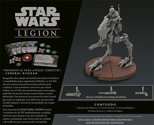 Star Wars Legion Wave 0 AT-RT Expansão de Unidade Galapagos SWL004  - Place Games