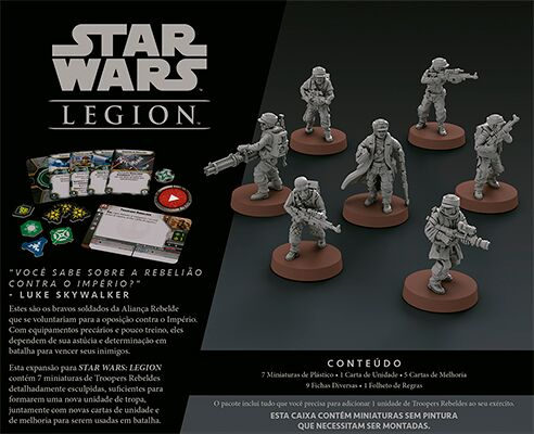 Star Wars Legion Wave 0 Troopers Rebeldes Expansão de Unidade Galapagos SWL005  - Place Games