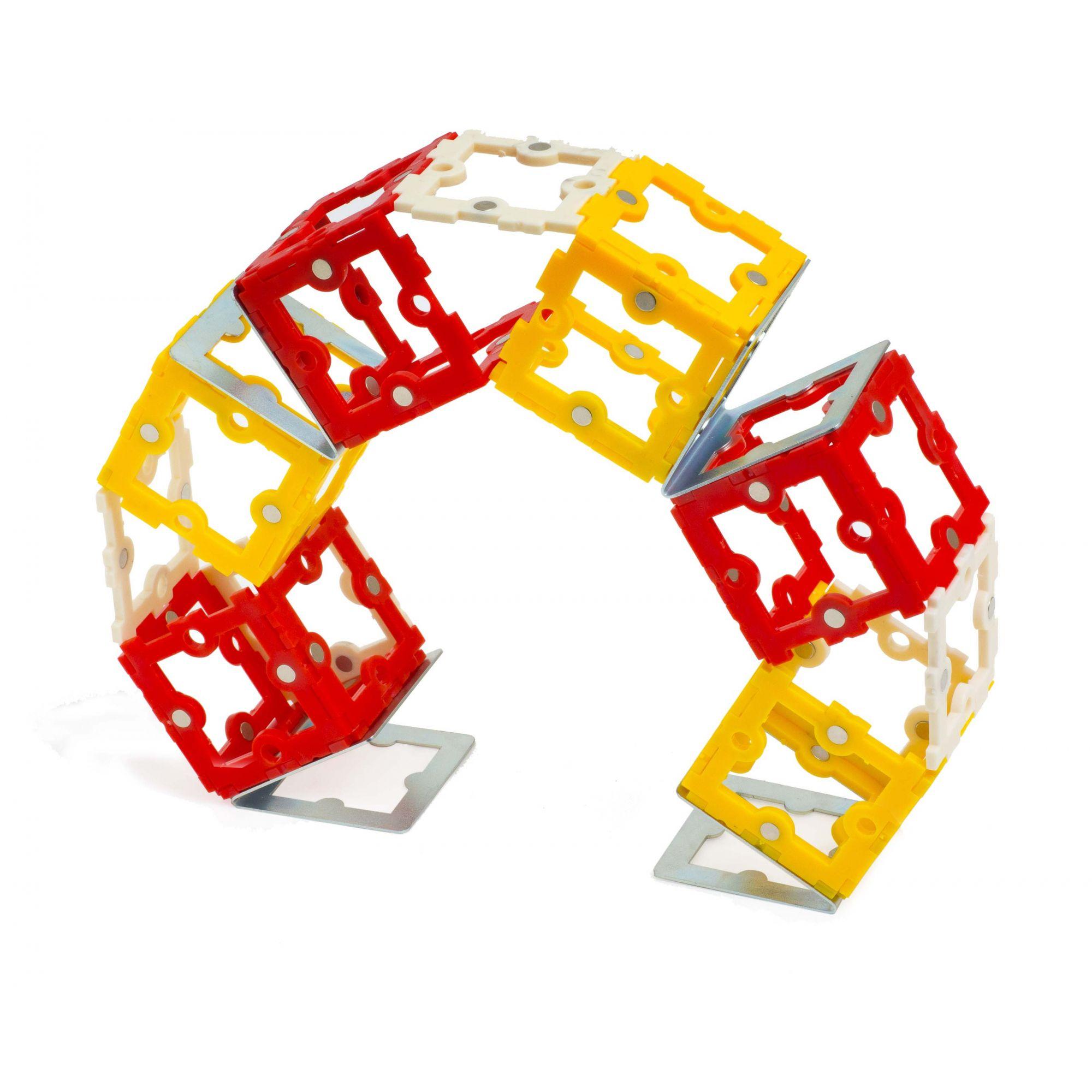 Tekton 86 Blocos de Montagem Magnetizados STEM TOY  - Place Games