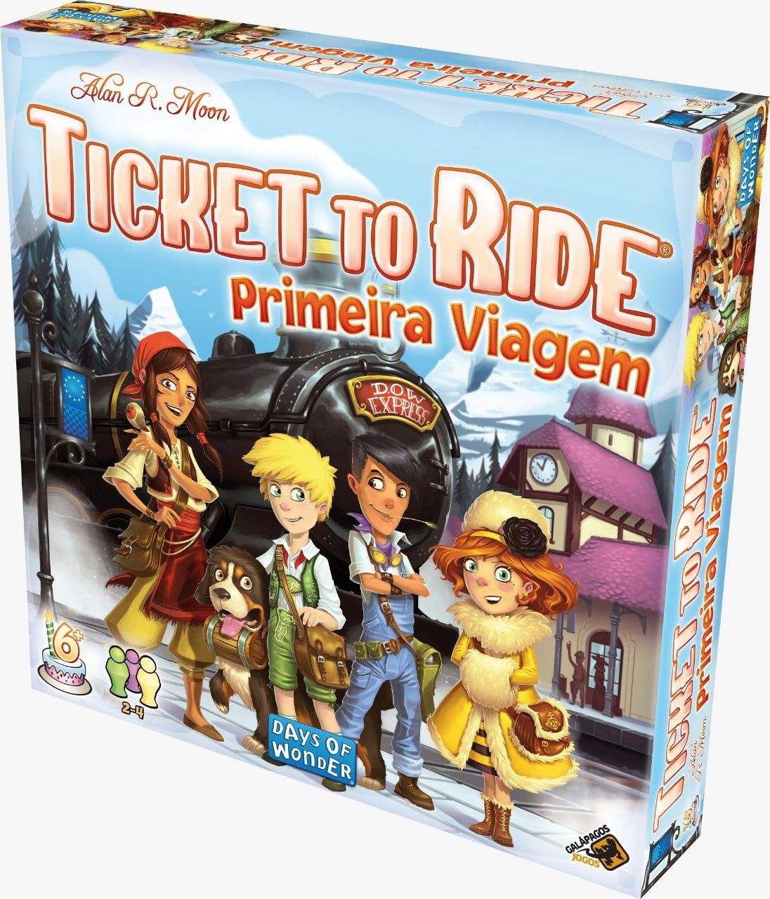 Ticket to Ride First Journey Primeira Jornada Galapagos TTR004  - Place Games