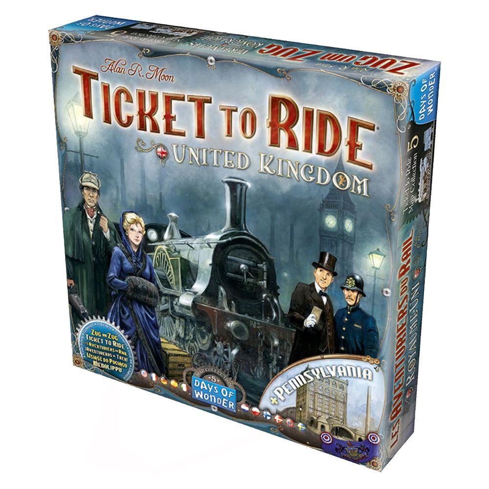 Ticket to Ride Reino Unido e Pensilvania Expansão de Jogo de Tabuleiro Galapagos TTR010  - Place Games