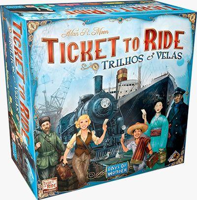 Ticket to Ride Trilhos e Velas Jogo de Tabuleiro Galapagos TTR005  - Place Games