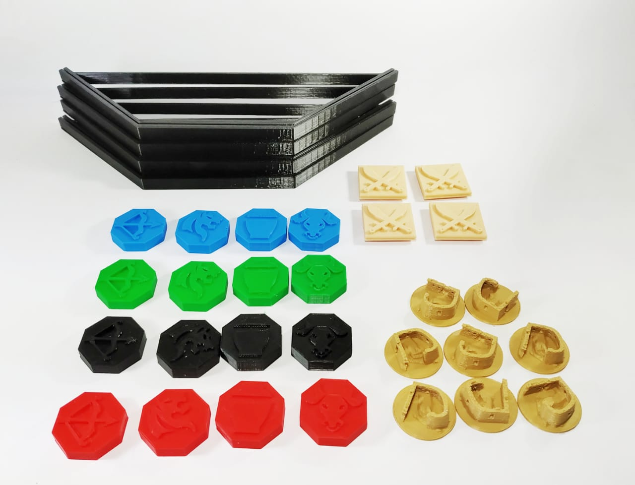 Tigris e Euphrates Kit de peças 3D realistas Acessório Jogo de Tabuleiro  - Place Games