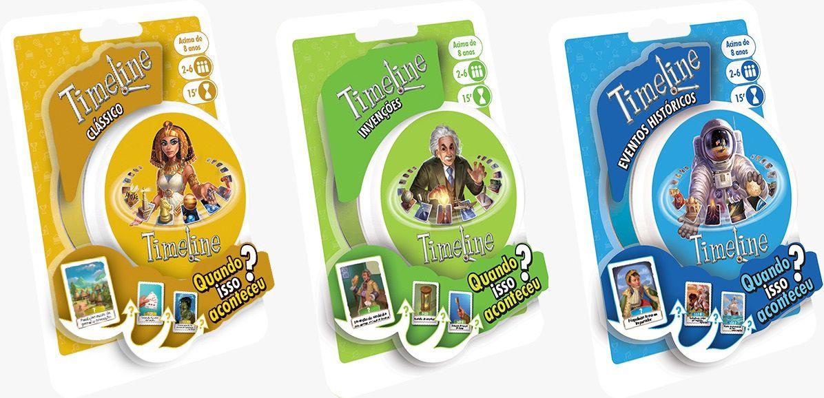 Timeline Classico + Eventos Historicos + Invenções Jogos de Cartas Galapagos   - Place Games