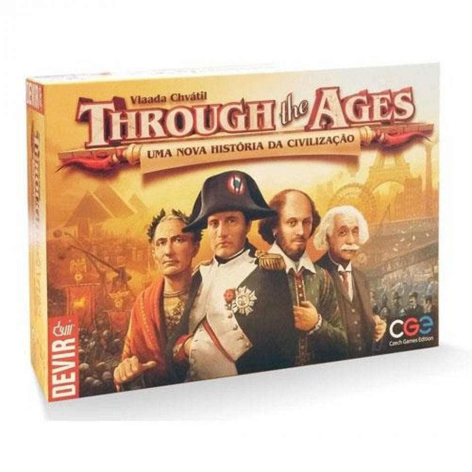 Trough the Ages Jogo de Tabuleiro Devir BGHTAGES  - Place Games