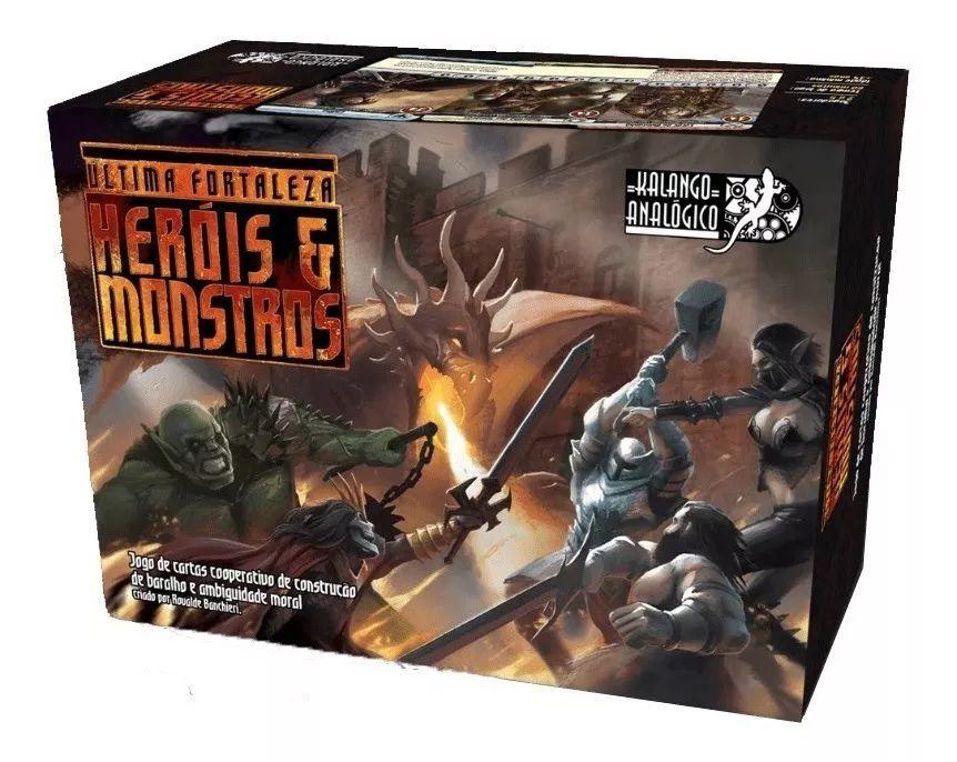 Ultima Fortaleza Heróis e Monstros Jogo de Cartas Semi-Novo Kalango Analógico  - Place Games