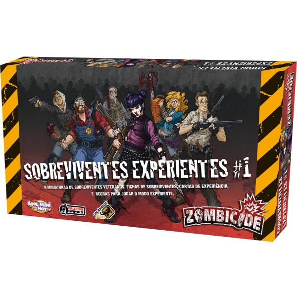 Zombicide Sobreviventes Experientes Galapagos ZOM170  - Place Games