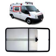 Janela Lado Direito 1º Vão 113,0 x 0,50cm Ambulância Ford Transit 2008 2009 2010 2011 2012 2013