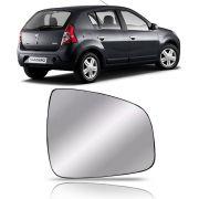 Refil Lente Espelho do Retrovisor Lado Direito Renault Sandero 2010 2011 2012 2013